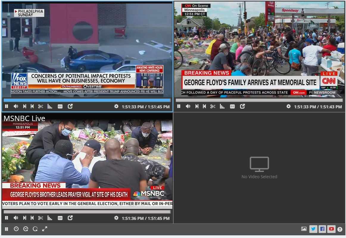 CNN: George Floyd's family arrives at memorial site MNSBC: George Floyd's brother leads prayer vigil at site of his death  Fox News: Concerns of potential impact protests will have on businesses, economy