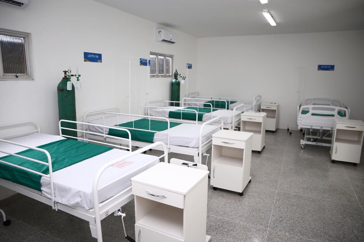Mais 40 leitos incorporados à luta contra o coronavírus. Esses ficam em Santa Inês, que hoje recebeu hospital de campanha.