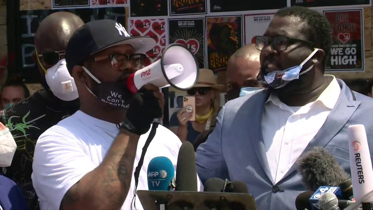 WATCH: Full speech by George Floyd's brother, Terrence Floyd, at site of George Floyd's death.