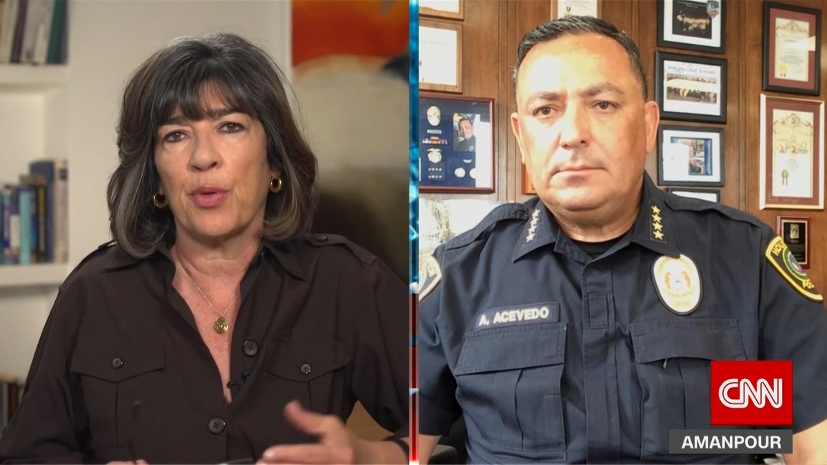 """Houston Police Chief @ArtAcevedo: """"Let me just say this to the President of the United States, on behalf of the police chiefs of this country: please, if you don't have something constructive to say, keep your mouth shut."""""""