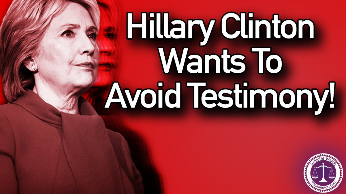 Judicial Watch: Appellate Court Hearing on Clinton Email Testimony Tuesday – Hillary Clinton Seeks to Block Court Order Requiring Her to Testify.  Read more here: