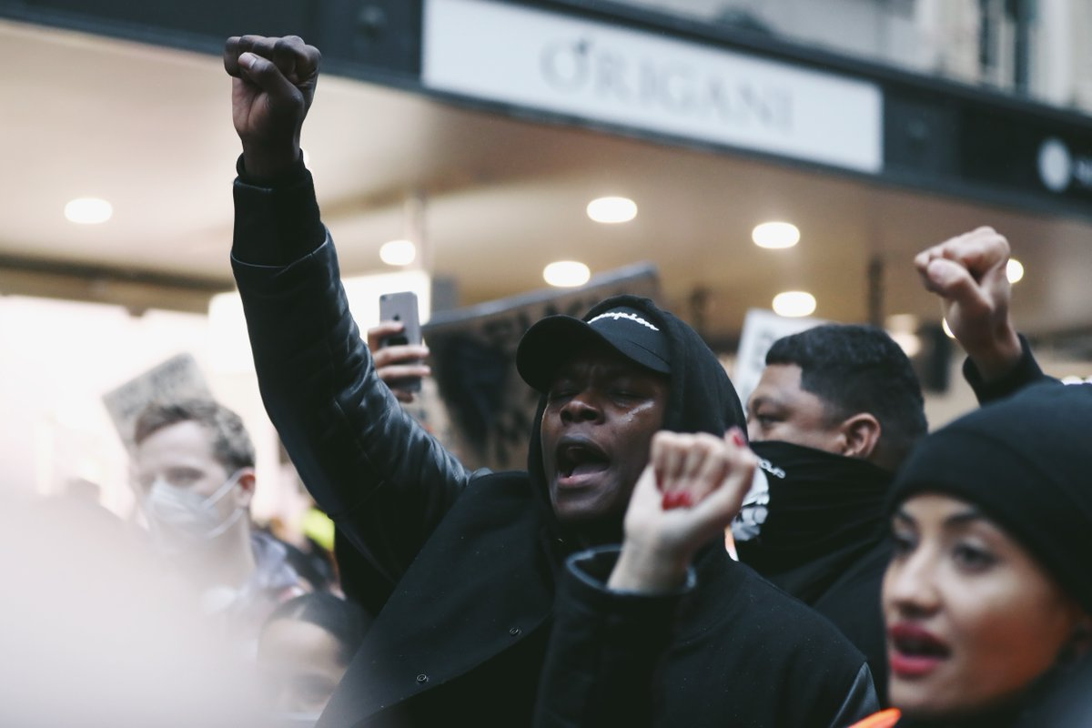 UFC middleweight champion Israel Adesanya joined thousands of protesters in Auckland, New Zealand today for a march in solidarity with Black Lives Matter
