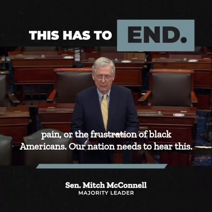 You do not advance peace by committing assault.   You do not advance justice by inflicting injustice upon your neighbors.   You do not promote the rule of law through anarchy.  WATCH @senatemajldr Mitch McConnell's full speech: