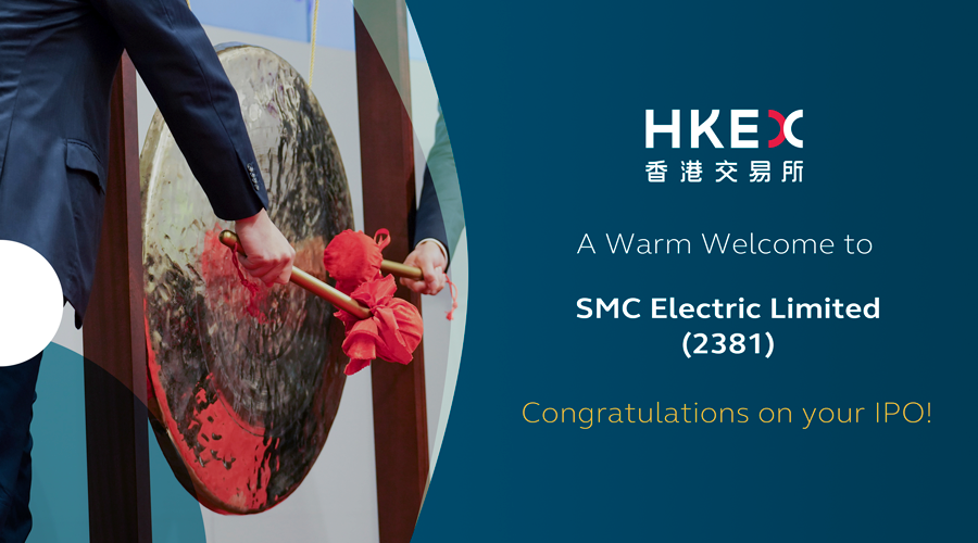 Welcome to SMC Electric Limited (2381) which listed on the #MainBoard today. https://t.co/JK3AWSZqzr