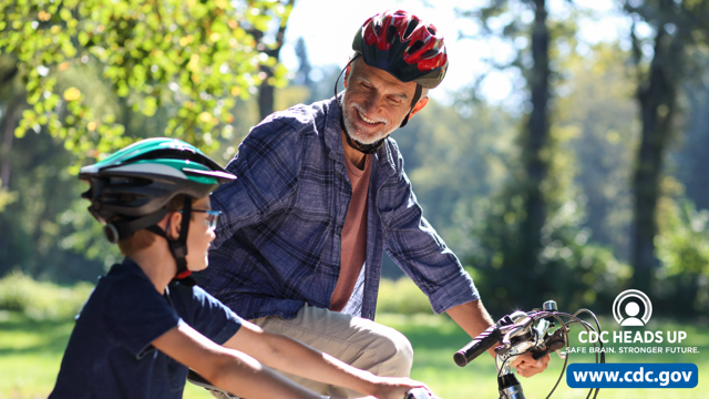 June is #NationalSafetyMonth. Helmet safety is important when riding your bike. A well-fit, properly maintained helmet can help protect you and your loved ones from serious brain injury. Learn more:  #CDCHEADSUP