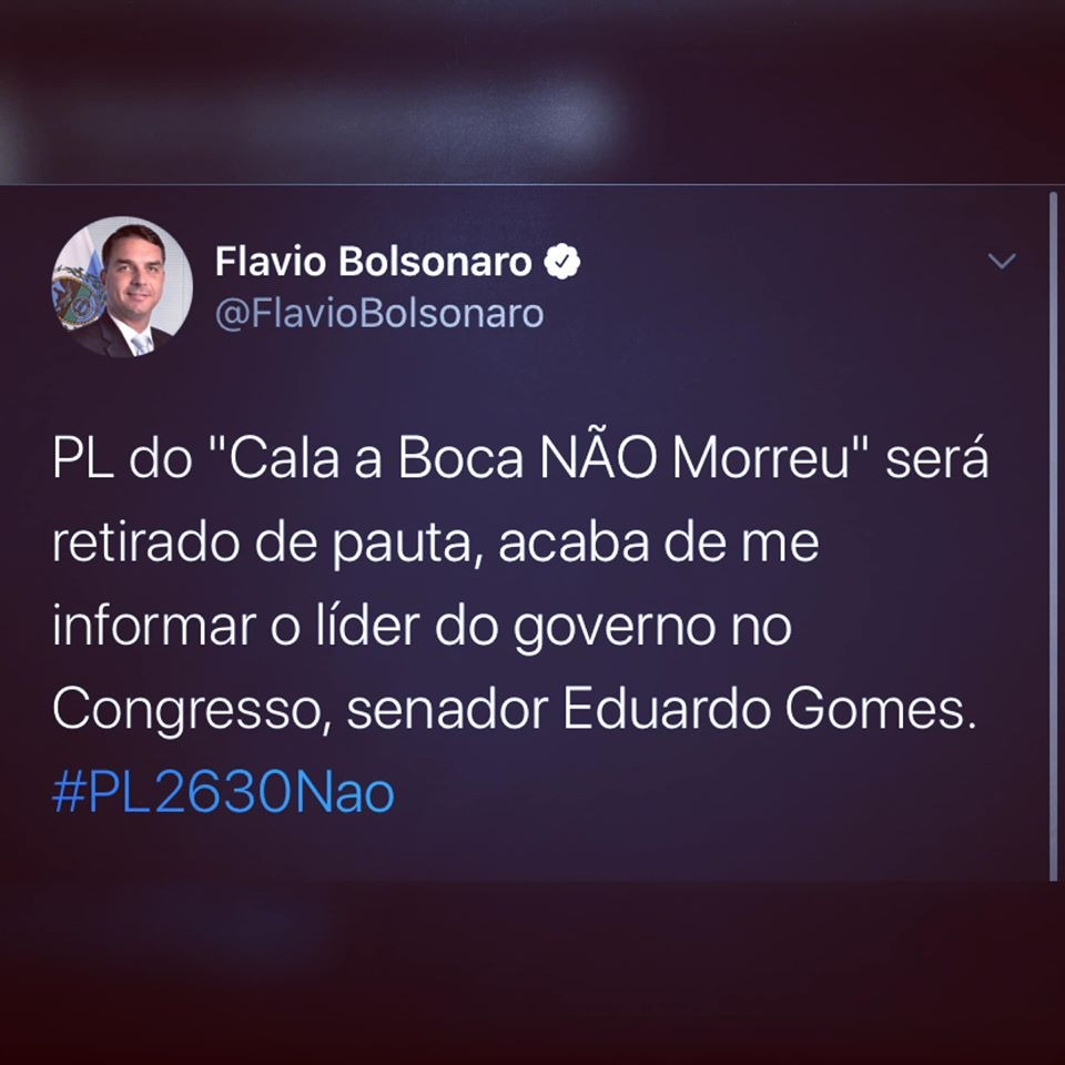 Vamos continuar lutando pela liberdade de expressão! Qual sua opinião sobre este projeto? #PL260NAO #fechadocombolsonaro #depheliolopes #minhacoréobrasil