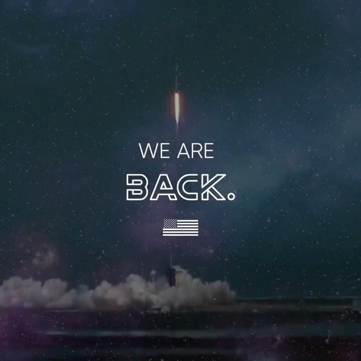 🚀 🇺🇸  we're back.