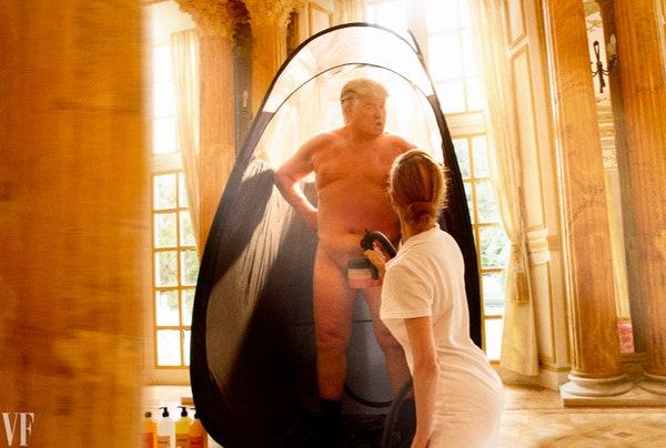 A internet está em pânico com as supostas nudes do Trump. Fico feliz em informar que são fake, obra da artista @alisonjackson (desculpe se você estava no meio de uma refeição)