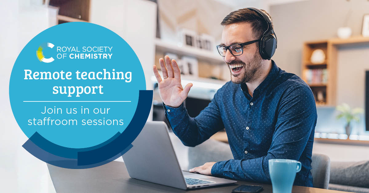 Come along to our virtual chemistry staffroom for an informal forum to share insights and experiences with other teachers, or just listen to how others are coping ➡️   #remoteteaching #teaching #classroom #HomeLearning #HomeSchooling #RSCTeachChemistry