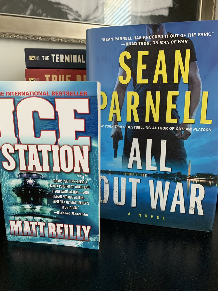 Last couple of days I've finished a couple books. #AllOutWar by @SeanParnellUSA was awesome, and I'm thoroughly pleased I read #IceStation by @Matthew_Reilly a great recommendation from @LoveBookstoo from @thebookdragons1