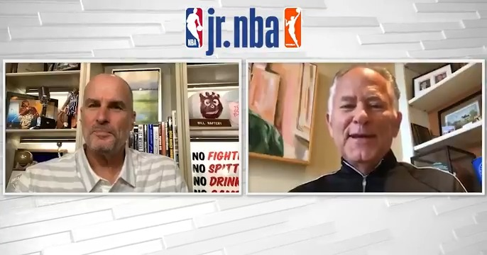 The Jr. NBA Coaches Corner Podcast is BACK with a new episode 🙌  Host @JayBilas discusses practice planning and resources with @sixers advisor Jim O'Brien and Coach Sue Phillips from @AMHSMonarchs 🏀 Listen now on Jr. NBA YouTube or wherever you get your favorite podcasts‼️