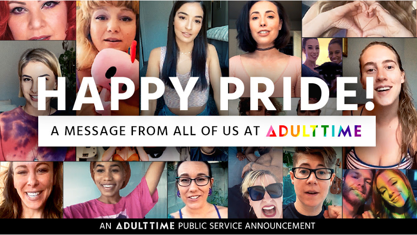 Adult Time Releases PSA Celebrating Pride Month With Messages of Hope   @Adulttimecom @TheBreeMills