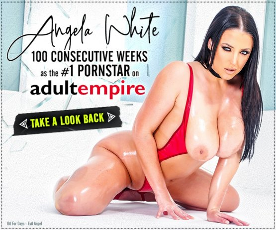In celebration of @ANGELAWHITE reaching a historic 3 digits as their Most Popular Pornstar. @adultempire shows us why/how Angela has attained 𝟏𝟎𝟎 𝐖𝐄𝐄𝐊𝐒 𝐚𝐭 #𝟏 🐐  (💕 the composite 🎥)