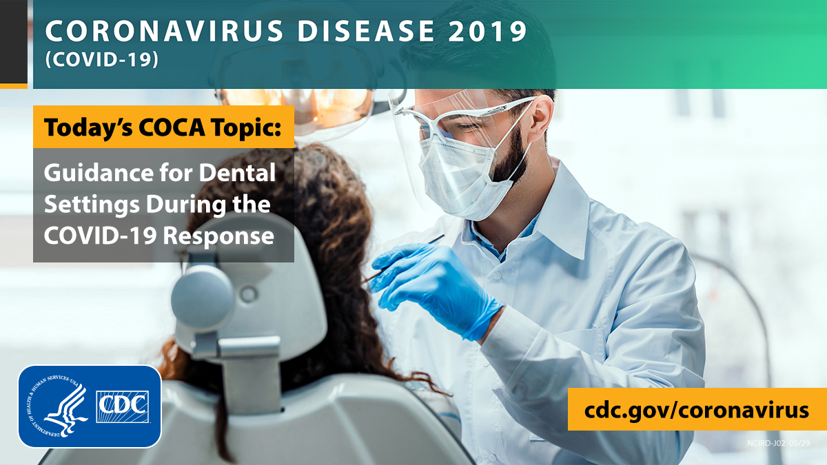 #Dental #HCPs: Today at 2pm ET log in to COCA Facebook profile or call in. COCA Call Topic: Guidance for Dental Settings During the #COVID19 Response. Learn more about the event at