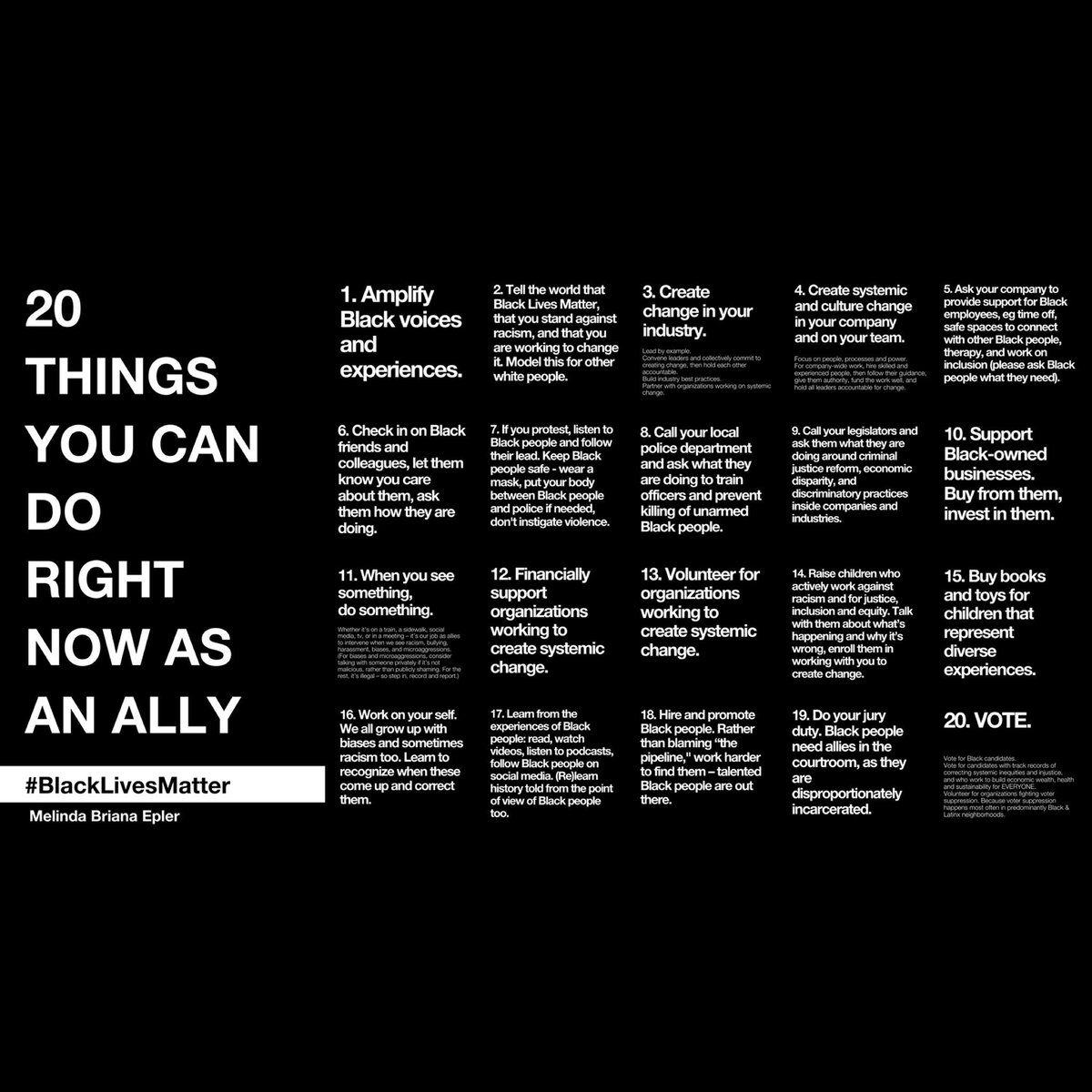20 ways to be an active ally - I found this list to be very informative : )