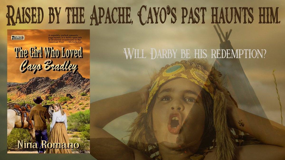 "#RT @ninsthewriter  ""A True Emotional Roller Coaster and, a Must Read!"" Raised by the Apache, Cayo's past haunts him. Will Darby be his redemption? #FREE with #KindleUnlimited #ASMSG #bookboost #amreadingromance #HistoricalRomance #Western #TBR #books"