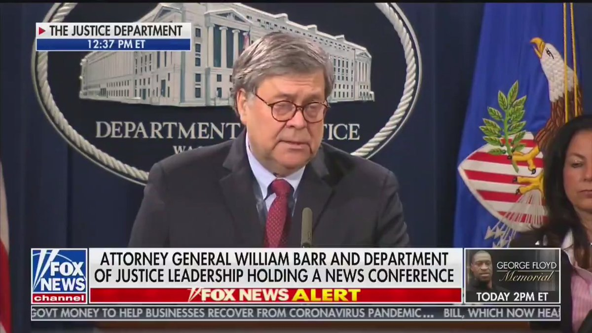 Attorney General Barr on the death of #GeorgeFloyd and the steps the @realDonaldTrump administration are taking to ensure justice