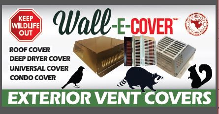 ***SECURE** YOUR EXTERIOR VENTS !! **KEEP WILDLIFE OUT ! & LOOK GOOD DOING IT !**  ( EXTERIOR  VENTS ) BECOME-Wildlife Homes!!  #wildliferemoval #pestcontrol #protection #homedepot #acehardware #propertymanagers #lowes #yourrighttochoose #usa #canada #homeowners