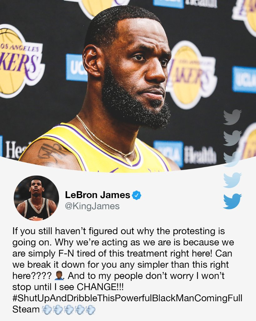 ".@KingJames responds to Fox News' Laura Ingraham after she said Drew Brees is ""allowed to have an opinion,"" but told James to ""shut up and dribble"" in 2018."