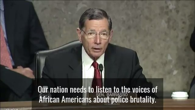 Conference Chairman @SenJohnBarrasso:  Our nation needs to listen to the voices of African Americans about police brutality.  Every American citizen deserves justice under the law.