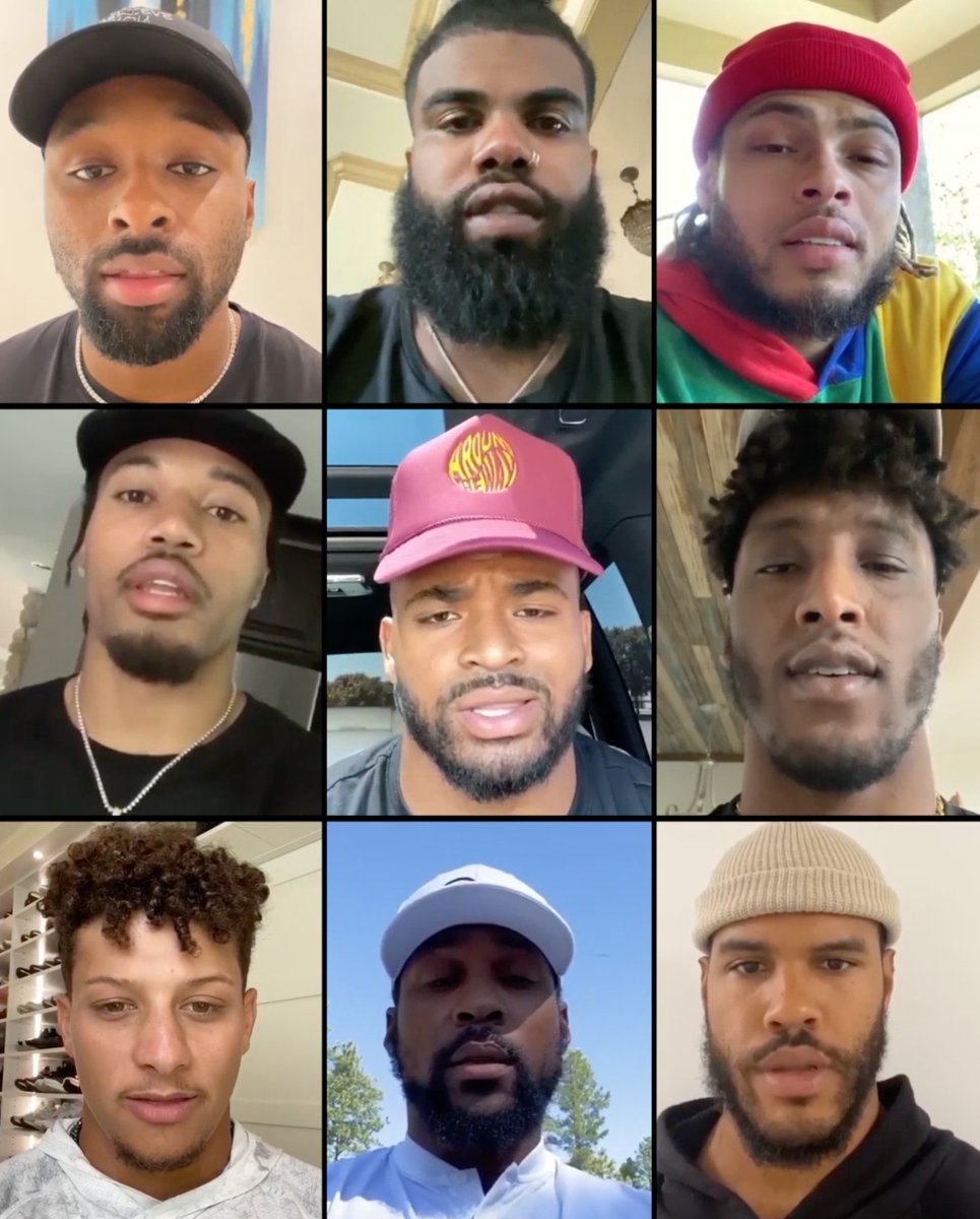 Michael Thomas, Patrick Mahomes, OBJ and other stars unite for a message to the NFL  (via @Cantguardmike, @saquon)