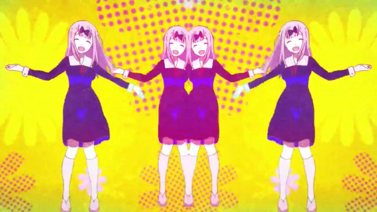 test ツイッターメディア - かぐや様のOP曲フルで聴くと1期の 『ラブ・ドラマティック feat. 伊原六花』 がロマンティックさ勝ってる💞  OPムービーは千花ちゃんの踊りで 真・女神転生マンイーター連想する🧟♀️ これは狙ってないかも。  BGMは冬ソナ、東京ラブストーリー、 ゴッドファーザー、君が望む永遠とか Fateぽいのくる♪ https://t.co/7Kb6gqxPmN