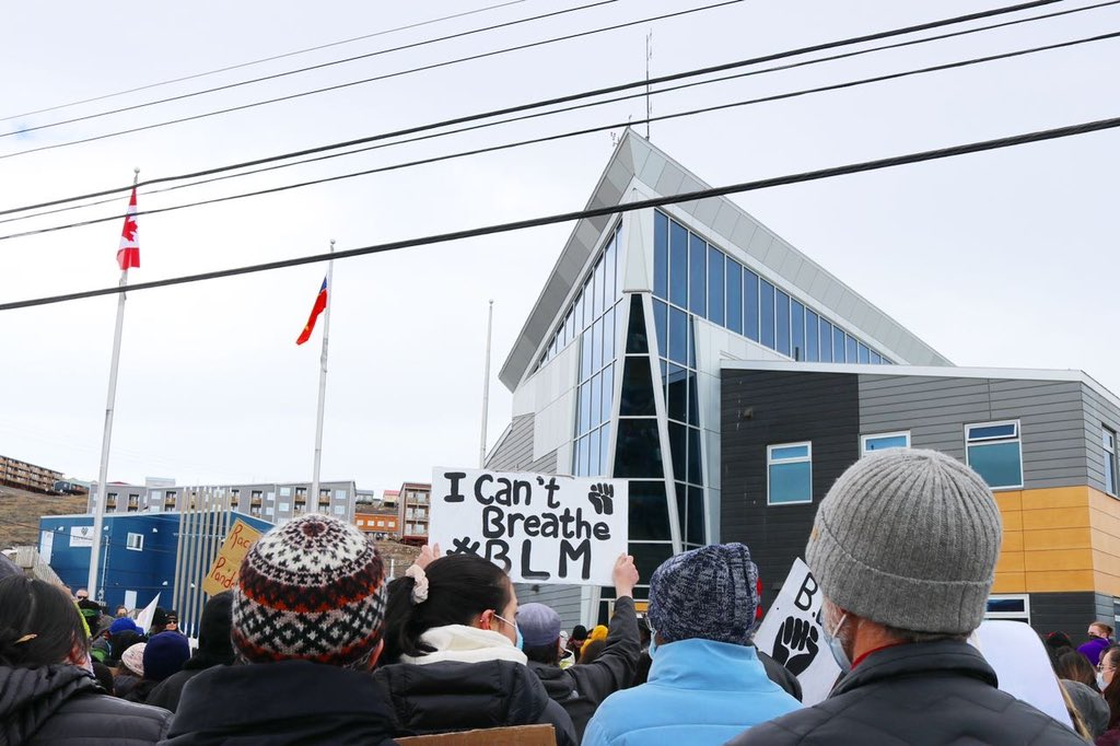 test Twitter Media - A couple of other memorable moments from today's #BlackLivesMatter rally in #Iqaluit #Nunavut https://t.co/LmSEbpwCDs