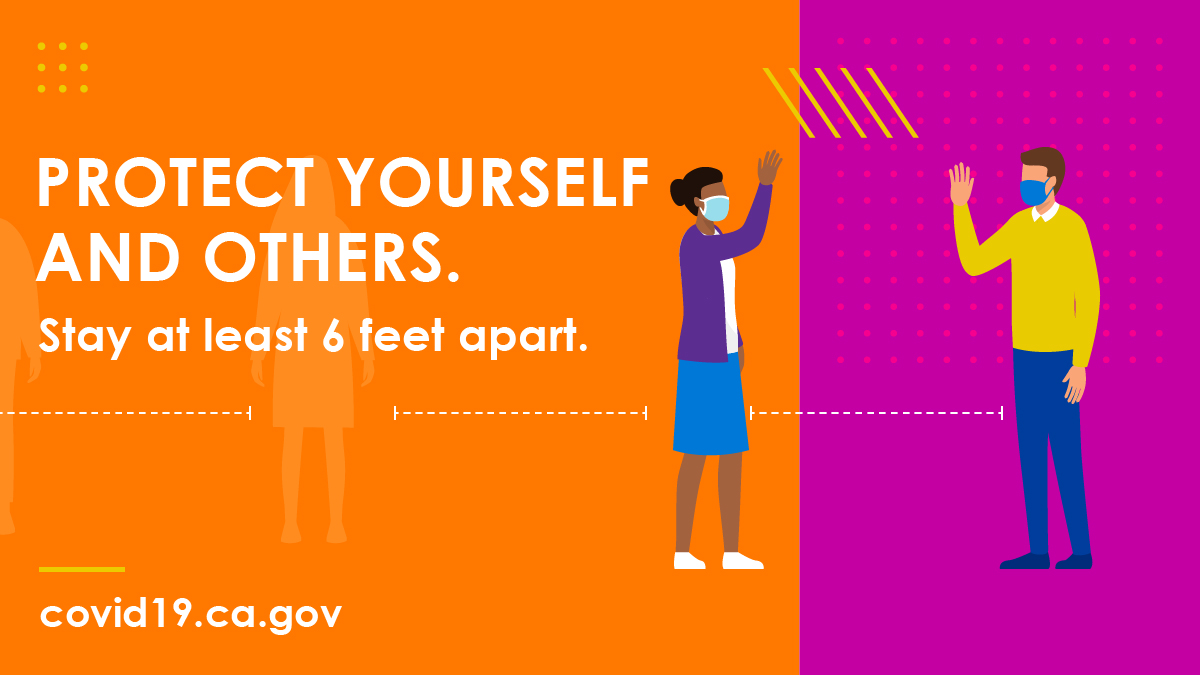 #COVID19 is still spreading!  Wear a face covering. 😷 Physically distance. 🙋🏾‍♀️---6ft---👨🏾‍🦱 Stay home if you are 65+ or have an underlying health condition. 🏠  #YourActionsSaveLives