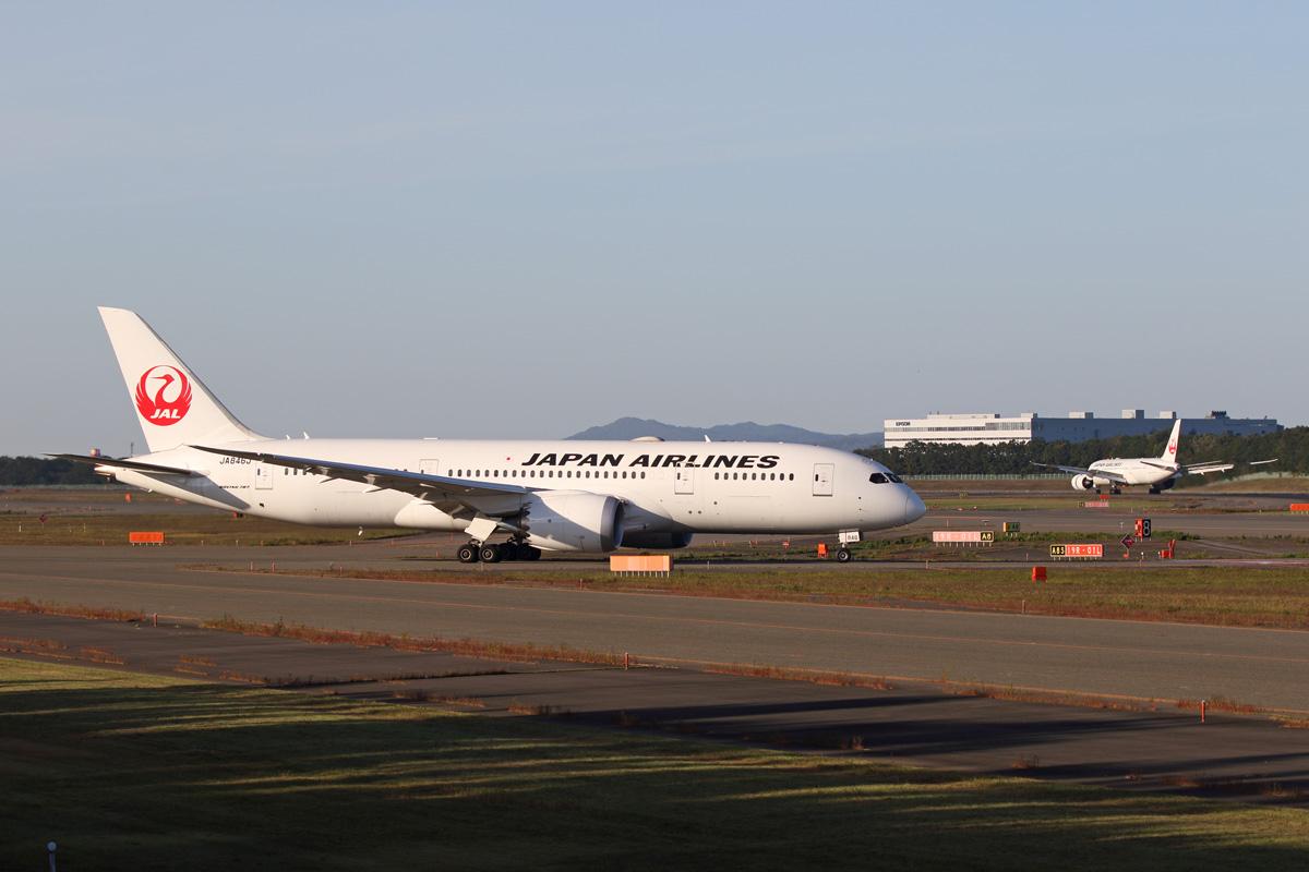 test ツイッターメディア - Japan Airlines Boeing 787-8(JA846J, JA848J) #RJCC  実は鶴さんの78ドメ機を千歳で撮ったの、この間が初めてなんです(ボソッ https://t.co/1D0RVzBOkl