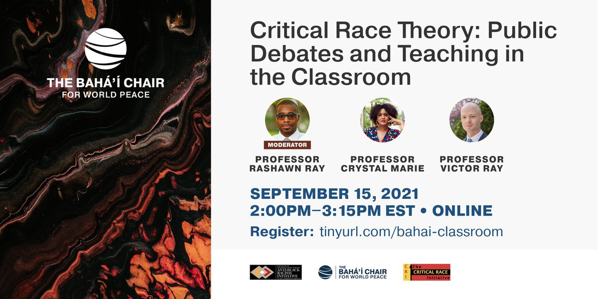 test Twitter Media - Let's talk #CriticalRaceTheory  . On Wednesday, September 15 at 2pm ET, I'm joined by @FlemingPhD at SUNY & @victorerikray at the University of Iowa for an important discussion about politics, education, & race in America.  Register below https://t.co/78ZZmAAlTJ https://t.co/p3Pn2A1VGY