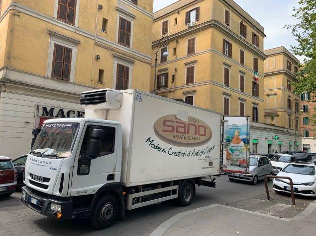 test Twitter Media - Nel 2021 a Roma le merci le consegnamo ancora così.  Piazza Testaccio: furgone staziona per 4/5 minuti in mezzo alla strada con numerosi veicoli che aspettano pazienti. Nessuno si lamenta, tutto normale. #Roma #fotodelgiorno https://t.co/onmVuAwsa4