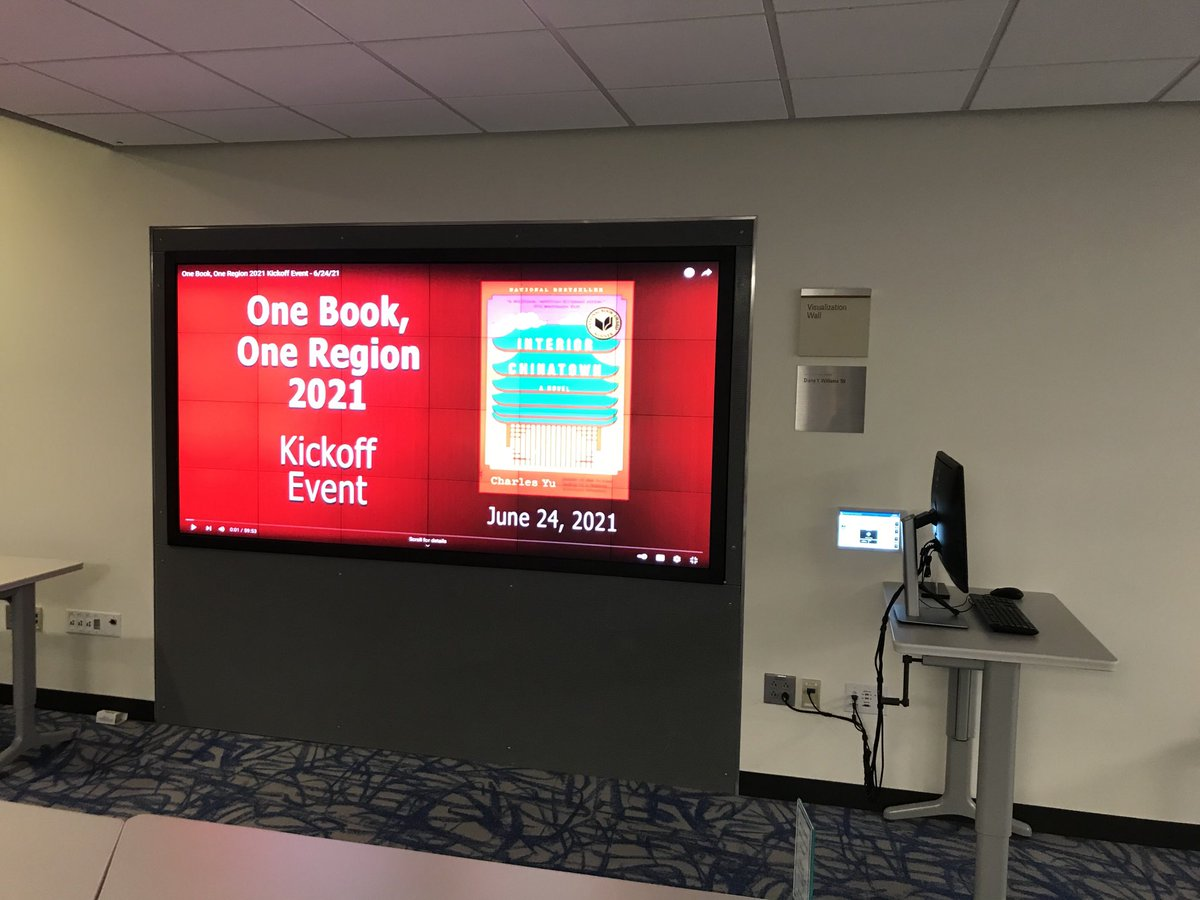 test Twitter Media - We're live at the #VizWall in #ShainLibrary getting ready to watch Professor Ayako Takamori's kickoff lecture for Interior Chinatown! #OneBookOneRegion #OBORct 📚 https://t.co/2BTJp1QaZW
