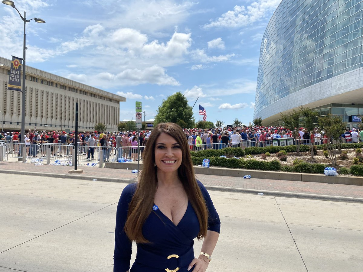 Huge lines of supporters hours ahead of the rally in Tulsa, Oklahoma @kimguilfoyle