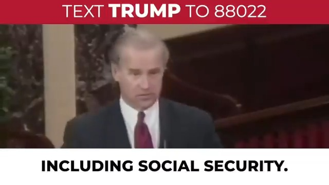 Joe Biden tried to FREEZE Social Security when he was in the Senate. Now he's lying about it.   Once again, Joe, we have you on video!