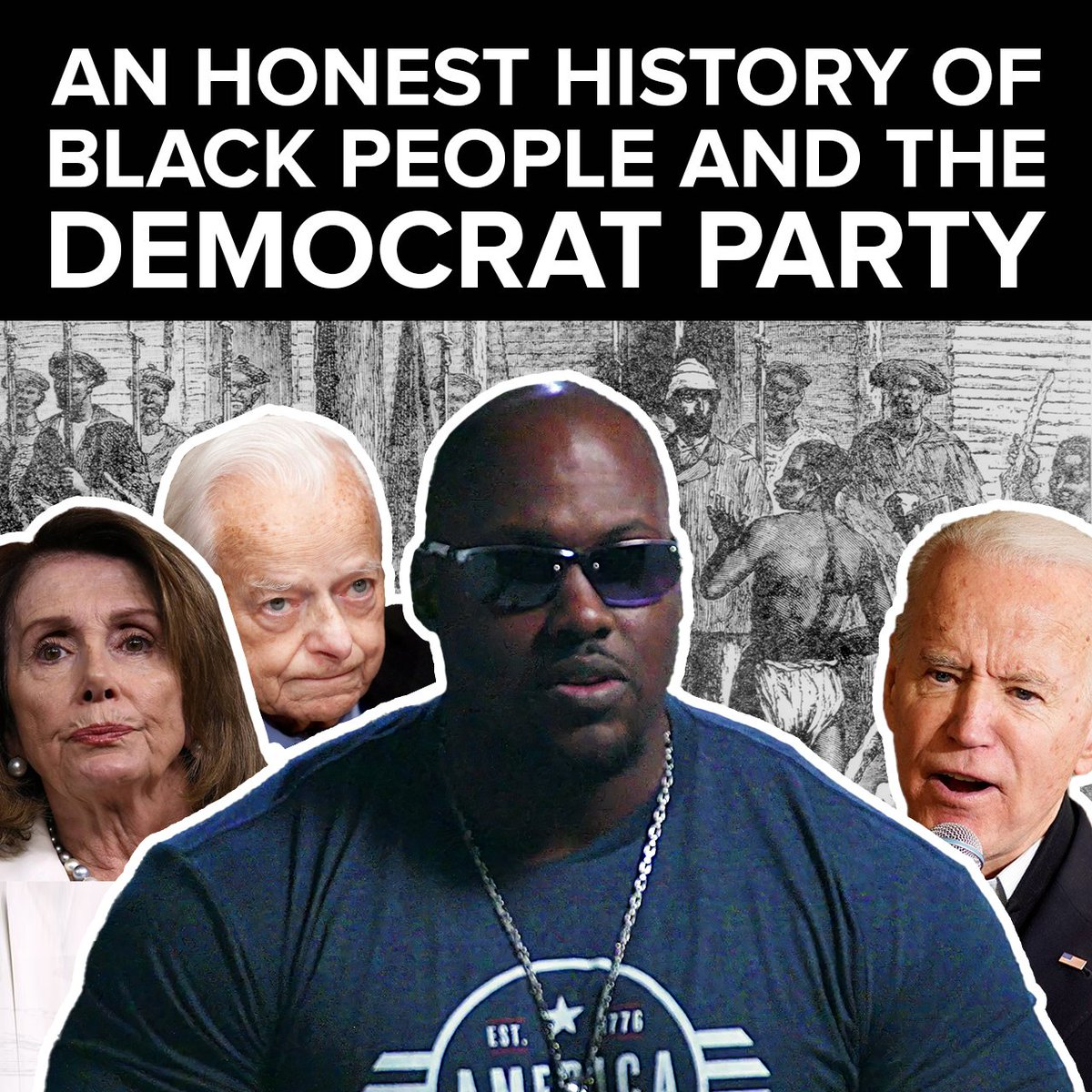 This man is NOT black according to Joe Biden  Maybe Joe doesn't want him spreading the TRUTH about the Democrat Party's bitter, racist history  Know the facts, don't let the media lie to you  Subscribe to hear @magamuscles' message: