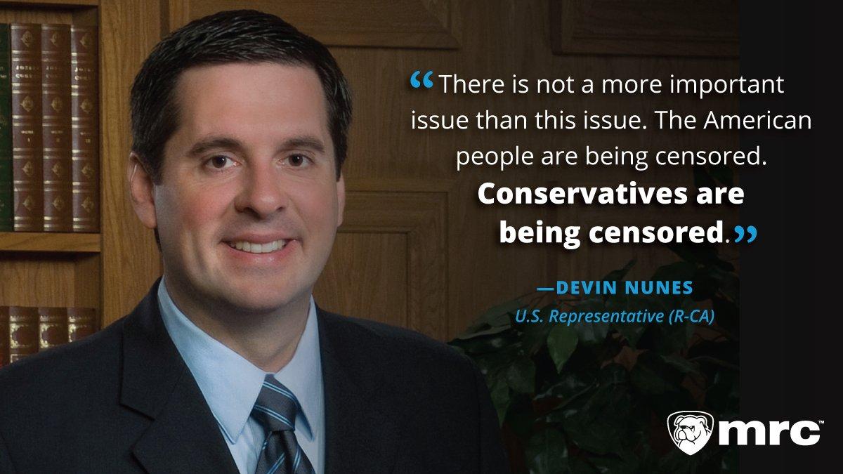 .@DevinNunes slams Big Tech for continually censoring conservatives!