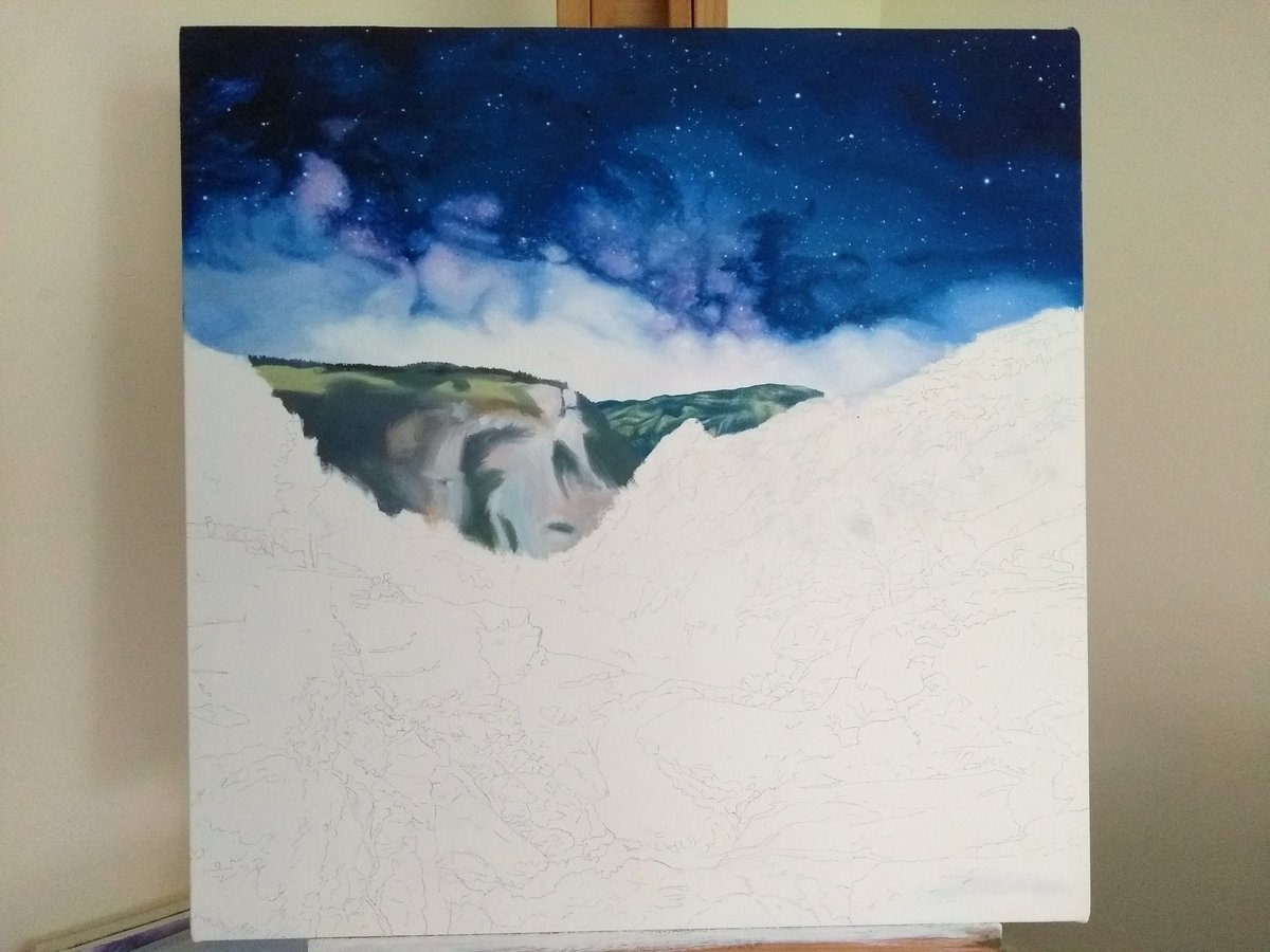 test Twitter Media - Carrying on with the oil painting. Slowly adding in the distant hills. #yosemite https://t.co/7uB9KcH1mA
