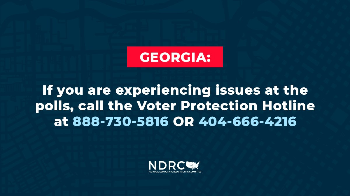 Georgians are risking their health to cast a vote, only to be met with absurdly long lines, broken voting machines, and polling locations opening late.  It's #VoterSuppression in action, and it's unacceptable in a democracy.  If you're voting in Georgia, STAY IN LINE!