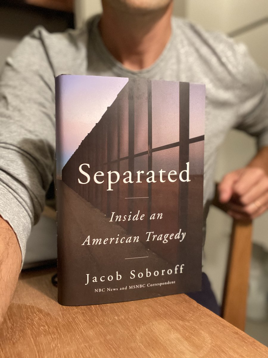 Look what arrived late last night! My first copy.  As I promised them, this is going back in the mail to the extraordinary father and son, separated nearly five months by Trump, you'll read about.  SEPARATED drops July 7th, but you can pre-order it here: