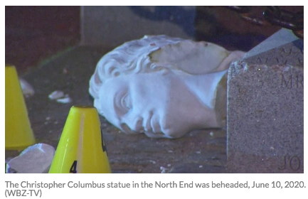 Another Columbus statue bites the dust.