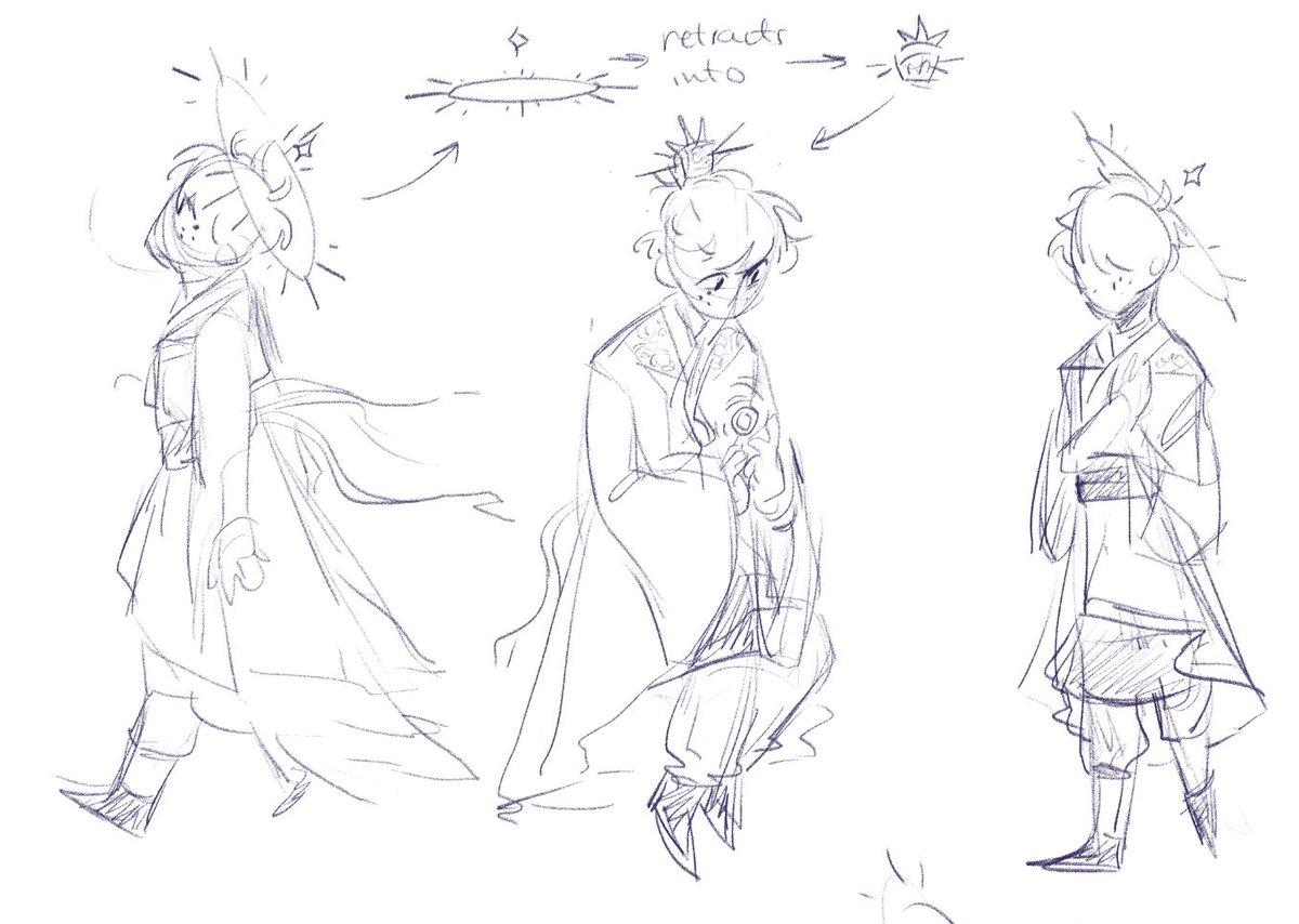 My art has been feeling stiff lately so I worked on some designs for a sun Izuku au!   #bnha #deku