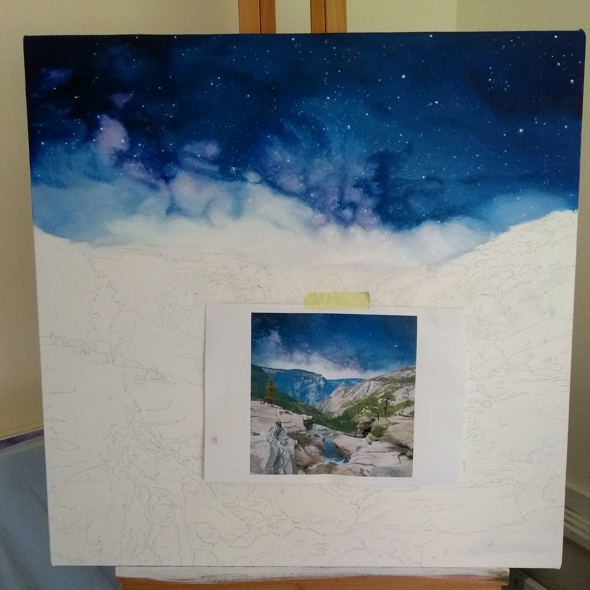 test Twitter Media - Working on this beauty again today. Also anyone want to watch me paint? Would it be good content? I have two watercolours ready to start and a streaming set up to test. But I'm going to need support to get over the stage fright. https://t.co/wwdDd2ZGhx