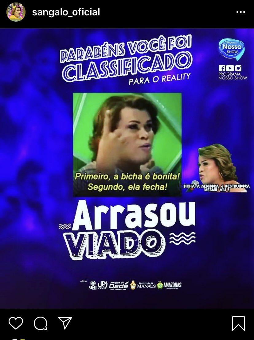 Sangalo é confirmada no reality show amazonense Arrasou Viado 🌈😭