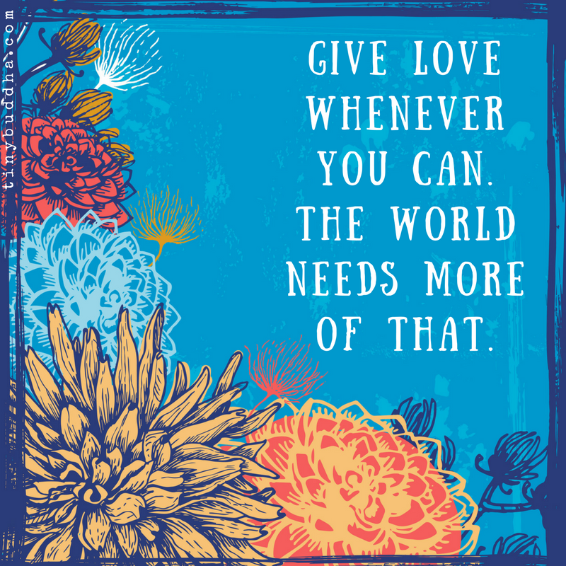 Give love whenever you can. The world needs more of that. https://t.co/jdbKs9RNwQ