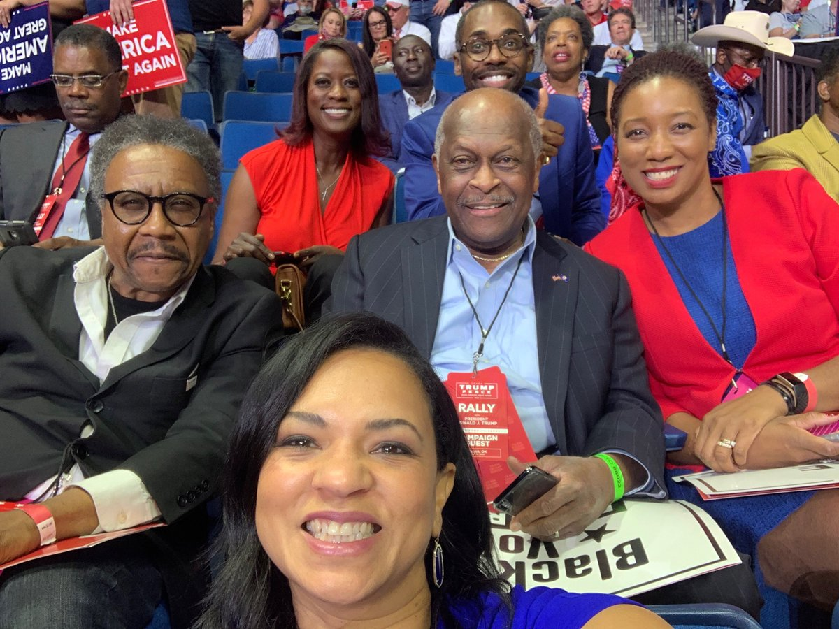Here's just a few of the #BlackVoicesForTrump at tonight's rally!  Having a fantastic time!  #TulsaRally2020 #Trumptulsa #TulsaTrumprally #MAGA #Trump2020 #Trump2020Landslide