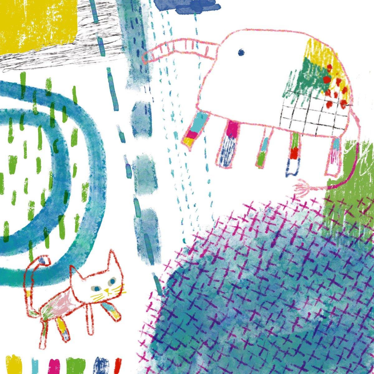 お天気雨だにゃ😾  #doodle #illustration #art #artist #artwork #illustrator #procreate #digital #drawing #painting #picture #cute #cat #nature #peace #happy #イラスト #絵 #落書き #ほっこり #猫 #アート #デジタル