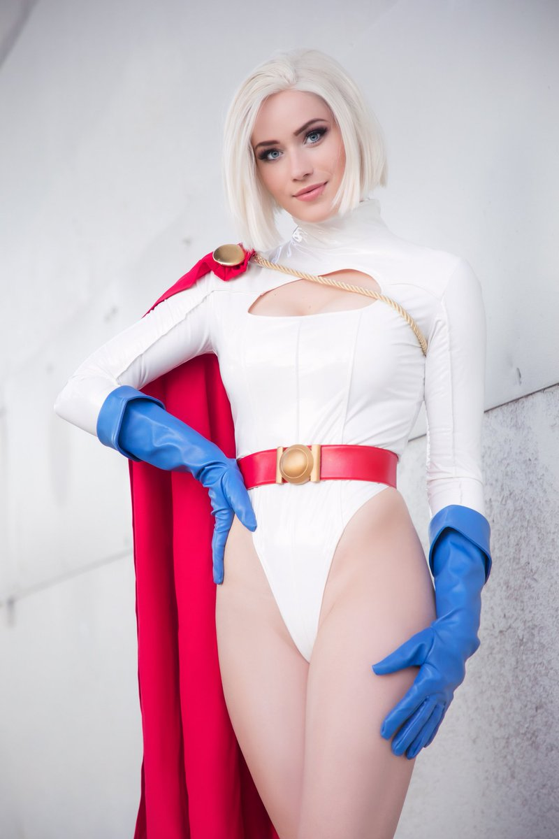 Someone ask for a superhero? ❤️💙 Power girl is hitting my Patreon this week 🥰 What do you think so far?