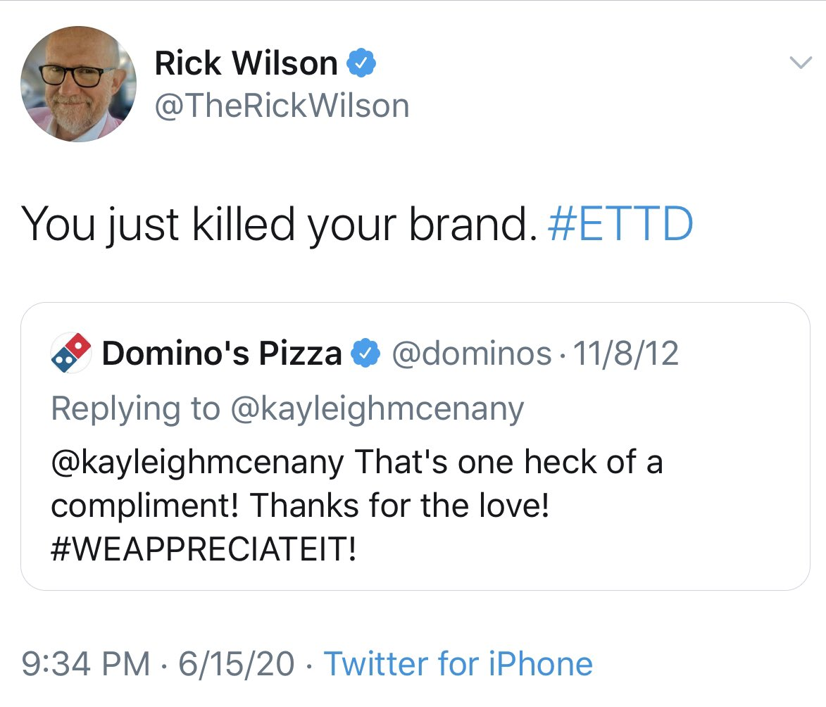 How can you tell President @realDonaldTrump will WIN in November?  When #CancelCulture seizes on an 8 year old tweet about pizza.   Keep up the great work, @kayleighmcenany !