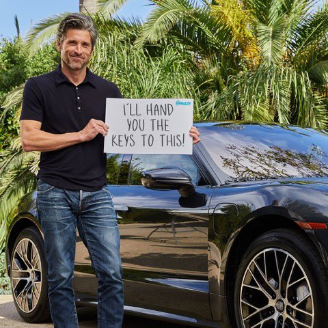 I want to hand you the keys to a brand new Porsche Taycan Turbo! It's all-electric and comes with $20,000 cash. Support the @DempseyCenter and ENTER for your chance to win: