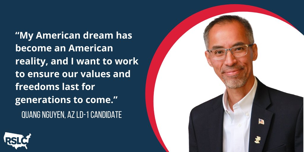 🚨CANDIDATE SPOTLIGHT🚨 Arizona HD-1 couldn't have a better representative than Quang Nguyen. As a husband, father of two, small business owner, and Vietnamese immigrant, Quang is the kind of conservative that this district needs.
